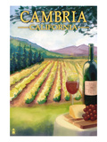 Cambria, California - Wine Country Poster by  Lantern Press