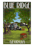 Blue Ridge, Georgia - Apple Harvest Art by Lantern Press