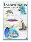 Islamorada, Florida Keys - Nautical Chart Posters by  Lantern Press