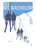 Ski Mt. Bachelor, Oregon - Ski Lifts Prints by  Lantern Press