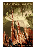 Carlsbad Caverns National Park, New Mexico - The Totem Pole Prints by  Lantern Press