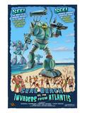 Seal Beach, California - Atlantean Invaders Prints by  Lantern Press