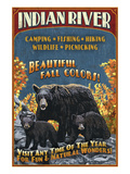 Indian River, Michigan - Bear Family Poster by  Lantern Press