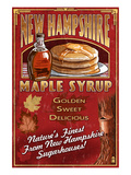New Hampshire - Syrup Posters by Lantern Press