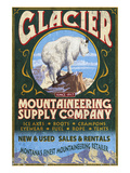 Glacier National Park, Montana - Mountain Goat Poster by  Lantern Press