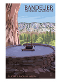 Bandelier National Monument, New Mexico - Alcove House Kiva Prints by  Lantern Press