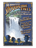 Snoqualmie Falls, Washington Láminas por  Lantern Press