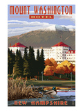 Mount Washington Hotel in Fall - Bretton Woods, New Hampshire Print by  Lantern Press