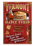 Vermont - Maple Syrup Poster by Lantern Press