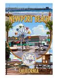 Newport Beach, California - Newport Beach Montage Poster von  Lantern Press