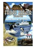 Friday Harbor, San Juan Island, WA - Scenes Posters af Lantern Press