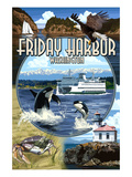 Friday Harbor, San Juan Island, WA - Scenes Posters by  Lantern Press