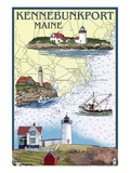 Kennebunkport, Maine - Nautical Chart Posters by  Lantern Press