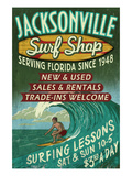 Jacksonville, Florida - Surf Shop Prints by  Lantern Press