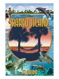 Marco Island, Florida - Montage Scenes Posters by  Lantern Press
