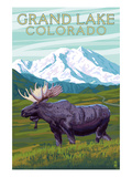 Moose and Mountain - Grand Lake, Colorado Posters by  Lantern Press