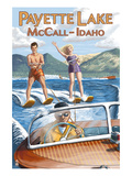 Payette Lake, McCall, Idaho - Water Skiing Scene Prints by  Lantern Press
