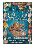 Huntington Beach, California - Shell Shop Prints by  Lantern Press
