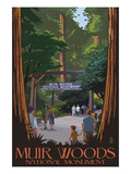 Muir Woods National Monument, California - Entrance Art by  Lantern Press