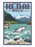Kenai River, Alaska - Salmon Fisherman Posters by  Lantern Press