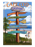 Eastham, Massachusetts Cape Cod - Sign Destinations Print by  Lantern Press