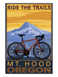 Mt. Hood, Oregon - Ride the Trials Posters by  Lantern Press