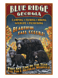 Blue Ridge, Georgia - Black Bear Family Prints by Lantern Press