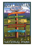 Rocky Mountain National Park, Colorado - Trail Ridge Road, Sign Destinations Prints by  Lantern Press