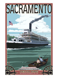 Delta King Riverboat - Sacramento, CA Print by  Lantern Press