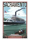 Delta King Riverboat - Sacramento, CA Print by  Lantern Press