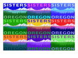 Sisters, Oregon - Mountains and Meadow Pop Art Prints by  Lantern Press