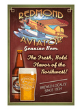 Redmond, Washington - Aviator Beer Prints by Lantern Press