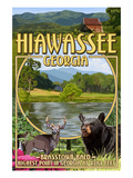 Hiawassee, Georgia - Montage Scenes Posters by Lantern Press 