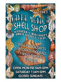 Santa Monica, California - Shell Shop Prints by Lantern Press