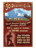 Mount McKinley, Alaska - 30% Club Posters by  Lantern Press