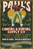 Minnesota - Paul Bunyan Camping Supply Prints by  Lantern Press