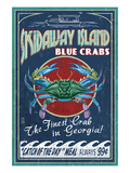 Skidaway Island, Georgia - Blue Crabs Poster by Lantern Press