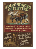 The Adirondacks - Long Lake, New York State - Moose Outfitters Posters by  Lantern Press