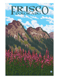 Frisco, Colorado - Fireweed and Mountains Posters by  Lantern Press