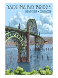 Newport, Oregon - Yaquina Bay Bridge Posters by  Lantern Press
