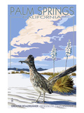 Palm Springs, California - Roadrunner Scene Affiche par Lantern Press