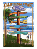 Santa Barbara, California - Sign Destinations Prints by  Lantern Press