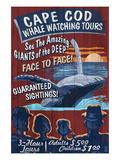 Cape Cod, Massachusetts - Whale Watching Poster von  Lantern Press