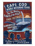 Cape Cod, Massachusetts - Whale Watching Posters by  Lantern Press
