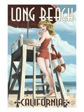 Long Beach, California - Lifeguard Pinup Prints by  Lantern Press