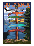 Soldotna, Alaska - Sign Destinations Prints by Lantern Press
