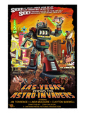 Las Vegas vs. The Astro-Invaders Prints by Lantern Press