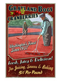 Grayland, Washington - Cranberry Prints by  Lantern Press
