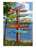 New Hampshire - Sign Destinations Prints by  Lantern Press