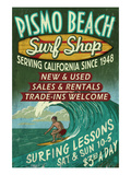 Pismo Beach, California - Surf Shop Posters by  Lantern Press
